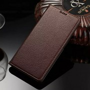 iLee Premium Genuine Leather Flip Cover For Sony Xperia Z4 (12 Month Warranty) -Color : Brown
