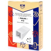 Sac aspirator Philips Athena, hartie, 4X saci + 1X filtru, KM