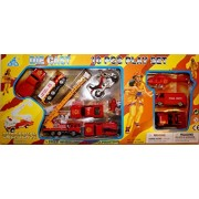 Emergency 911 Series 10 piece Die Cast Play Set with Fire Department Helicopter Motorcycle Helicopter Tank Truck Race Car Toys Assorted for Kids, Boys or Girls - Free Wheeling by Emergency 10 PCS Play Set