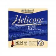 D'Addario Orchestral Cuerdas para violin eléctrico Helicore HE310-5-4/4-M, Tensión media