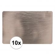 Geen 10 placemats leisteen look 44 x 29 cm