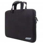 12 Inch Portable Air Permeable Manga Bolsa Para Portátil Macbook, Lenovo Y Otros Laptops, Tamaño: 32x21x2cm (negro)