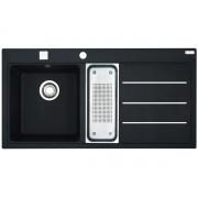 Chiuveta Franke Mythos Fusion 114.0156.992 MTF 651-100, 1000 x 515mm, Picurator dreapta, 2 cuve, Fragranit, Negru