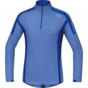GORE RUNNING WEAR AIR Hardloopshirt lange mouwen Heren Zip Shirt long blauw XL 2015 Hardloopshirts