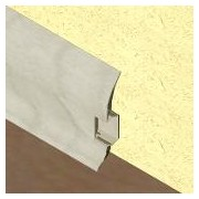 PBC605 - Plinta LINECO din PVC culoare artar alb pentru parchet - 60 mm