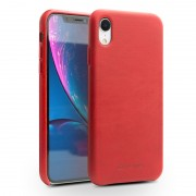 QIALINO Genuine Leather Coated PC Back Cover for iPhone XR 6.1 inch - Red