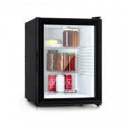 Klarstein Brooklyn 42, хладилник, енергиен клас A, стъклена врата, бял интериор, черен (HEA-Brooklyn-wht)