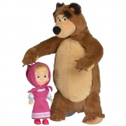 Set Masha And The Bear Masha 12 Cm Si Ursulet De Plus 25 Cm