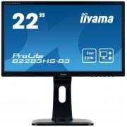 iiyama 21,5' 1920x1080, 13cm Height Adj. Stand, Pivot, 250cd/m², Speakers, VGA, DisplayPort, HDMI, 1ms