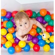 MVJ Colourful Pool balls/Pit Balls/Ocean balls Genuine Quality Set of 48 balls - 8 cm Diameter Similar Size of Cricket Ball (Free shipping)