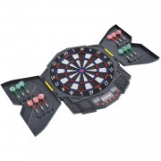HOMCOM Electronic Dart Board Set W/LED Digital Display, 27 Games
