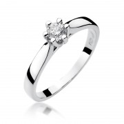 Biżuteria SAXO 14K Pierścionek z brylantem 0,25ct W-222 Białe Złoto GRATIS WYSYŁKA DHL GRATIS ZWROT DO 365 DNI!! 100% ORYGINAŁY!!