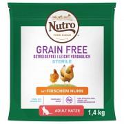 Nutro Grain Free Adult Sterilized Cat с пиле - 2 x 4 кг