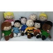 """Peanuts New Gang Plush Doll Set of 9 - Including Charlie Brown, Lucy, Linus, Peppermint Patty, Sally, Marcie, Pig-Pen, Franklin & Schroeder - 13"""" Set!"""