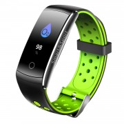 Q8S 0.96-inch Colorful Display IP68 Bluetooth 4.0 Smart Bracelet with Heart Rate/Blood Pressure/Blood Oxygen Monitor - Green