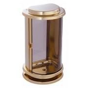 Lantaarn RVS ronde voorkant glimmend goud (01e1)