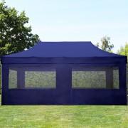 tendapro.it Gazebo Pieghevole ALU 3x6m Poliestere professionale con rivestimento PVC blu scuro Padiglione Richiudibile Automatico