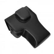 Bolsa de piel de cuero para Sony A7II camara reflex digital - negro