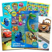 Disney Pixar Coloring Sticker Book Set Kids Toddlers 3 Activity Books Featuring Disney Cars, Toy Story, Finding nemo and More (Includes Over 1000 Stickers) (3 Book Super Set)