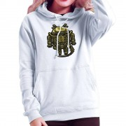 Cloud City 7 Droilien Alien Android Women's Hooded Sweatshirt Vit XX-Large