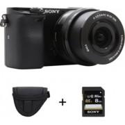 Sony APN SONY A6000 + 16-50mm + Etui + SD 8Go