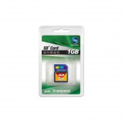 Transcend 1 GB SD Flash Memory Card TS1GSDC