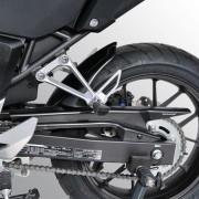 Honda CBR500R (13-15) Rear Hugger: Silver Carbon Look E730182136