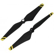 DJI Genuine Phantom 3 E305 9450 Carbon Fiber Reinforced Self-tightening Propellers Props (Composite Hub, Black with Yellow Stripes) For Phantom 3 Professional, Advanced, Phantom 2 series, Flame Wheel series platforms and the E310/E305/E300 tuned propulsi