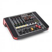 Power Dynamics PDM-M404A Mesa de mezclas 4 entradas para micrófono Procesador multi-FX de 24 bits Reproductor USB (Sky-172.610)