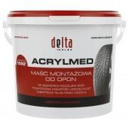 Pasta montażowa DELTA Acrylmed czerwona uszczelniacz 4kg - czerwony