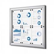 Jansen Display Vnitřní uzamykatelná vitrína základní 6xA4