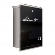 Radius Design Letterman 3 Briefkasten schwarze Glasfront