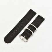 Curea din tesatura de nylon neagra catarame zulu 20mm - 4080120