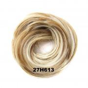 Světové zboží Příčesek - drdol na gumičce střapatý (27H613 (melír karamelové a beach blond)) - Světové Zboží