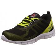 Reebok Men's Super Lite Black, Semi Solar Yllw and Wht Running Shoes -10 UK/India (44.5 EU) (11 US)