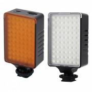 4.2W 490lm Blanco / Amarillo Filtro 70-LED de la camara de video de luz - Negro