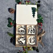 Cutie de Crăciun 16 globuri poveste