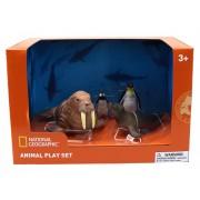 Set 4 figurine Morsa, Foca, Pinguin si Pui Pinguin National Geographic, 3 ani+