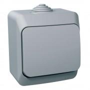 Priza simpla schuko cu capac Schneider Cedar WDE000641, gri