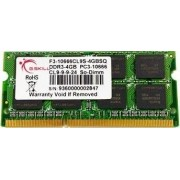 G.Skill 2GB DDR3 204-pin SODIMM Kit 2GB DDR3 1333MHz memoria