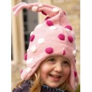 Buggy Snuggle Kindermuts Pom Pom roze XS