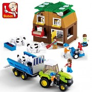 Generic SLUBAN 0561 Sunshine Pasture Series minis Ranch Dairy Cow DIY Building Block Bricks Toys for Kids Educational Toy Christmas Gift