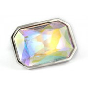 Mousie Bean Crystal Cufflinks Large Rectangle 085 AB