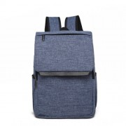 Universal Multi-Function Canvas Laptop Computer Shoulders Bag Leisurely Backpack Students Bag Size: 42x30x12cm For 15.6 inch and Below Macbook Samsung Lenovo Sony DELL Alienware CHUWI ASUS HP(Blue)