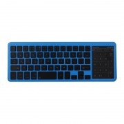 Slim Bluetooth Keyboard Numeric Key Touch Pad for iOS Android Windows - Blue