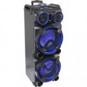Boxa audio portabila IBIZA 2 x 12 inch/30 cm Conectivitate Bluetooth AUX IN Port USB SD Card FM Karaoke Afisaj LED Manere