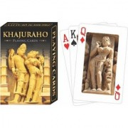 Metalcrafts Indian souviners small Playing Cards Khajuraho symbol 10 cm