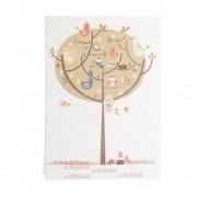 Dille&Kamille Carte, oiseaux dans un arbre