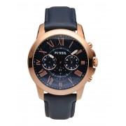 メンズ FOSSIL GRANT 腕時計 ダークブルー