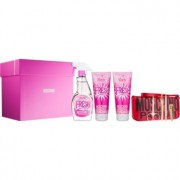 Moschino Fresh Couture Pink coffret I. Eau de Toilette 100 ml + gel de duche 100 ml + leite corporal 100 ml + conjunto de manicure 1 ks